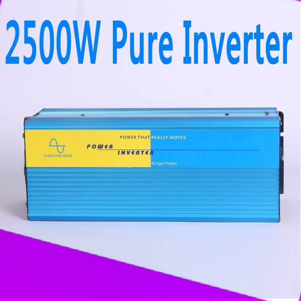 цена на 2500w pure sine inverter 2500W pure sine wave inverter 24v 240v 60hz power supply peak 5000W DC12V 24V 48V 50Hz 60Hz