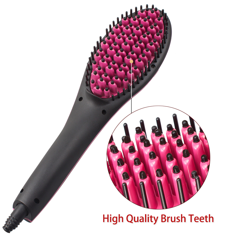 Rucha Ceramic Hair Straightening Brush Comb Digital Electric Brus Straightener Control 450f Fast Heating Up Brushes In Irons From Home