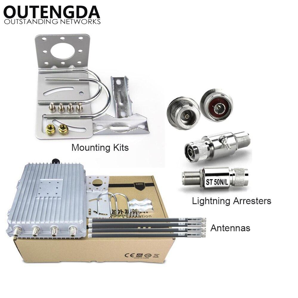1200 Mpbs 802.11AC 2.4 5.8 Ghz routeur AP extérieur sans fil double bande haute puissance pour projet de couverture WIFI à grande échelle park Square