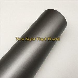 Image 2 - Wysokiej jakości matowa szara folia winylowa rolka Car Wrap Gunmetal szary matowy Vinyl Wrap bez pęcherzyków do stylizacji samochodów rozmiar: 1.52*30 m/rolka