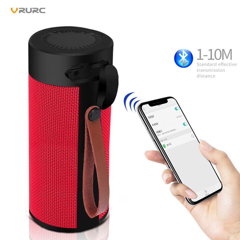 VRURC Portable Wireless Bluetooth Speaker Stereo 10W Super Bass Outdoor Waterproof Loudspeaker With Mic Support TF
