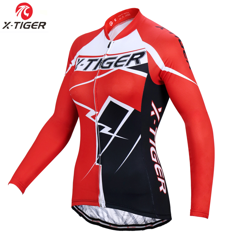 X-Tiger Pro Women Cycling Jersey Autumn Cycling Clothing Mountain Bike Clothes Cycling Bicycle Clothing Wear Ropa Ciclismo
