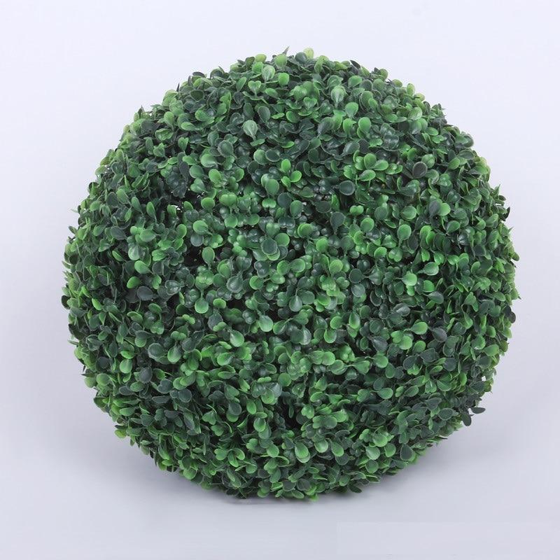 Boule d'herbe en plastique artificielle de plante de diamètre de 50 cm pour la décoration extérieure d'intérieur de noce livraison gratuite W7190