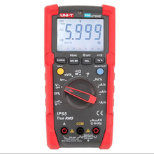 UNI-T UT191E UT191T Professional Multimeter True RMS IP65 Waterproof / Dustproof digital multimeter,   temperature / LoZ voltage victor vc890c digital multimeter true multimeter capacitor temperature measurement multimeter digital professional