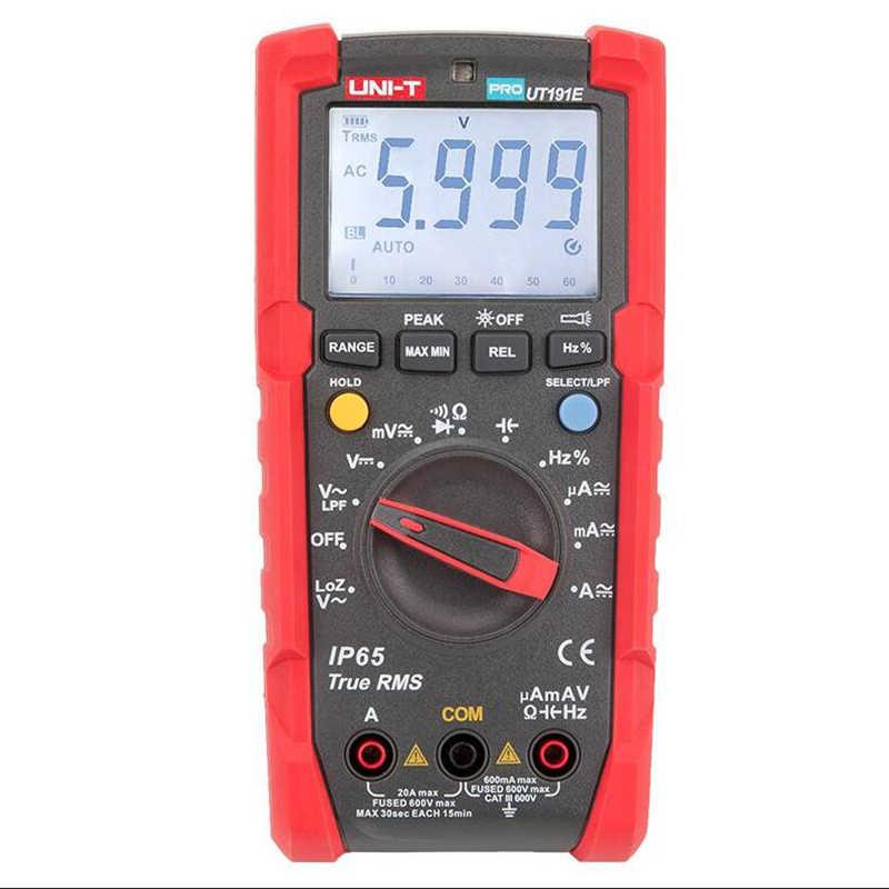 UNI-T ut191e ut191t 전문 멀티 미터 true rms ip65 방수/방진 디지털 멀티 미터, 온도/loz 전압