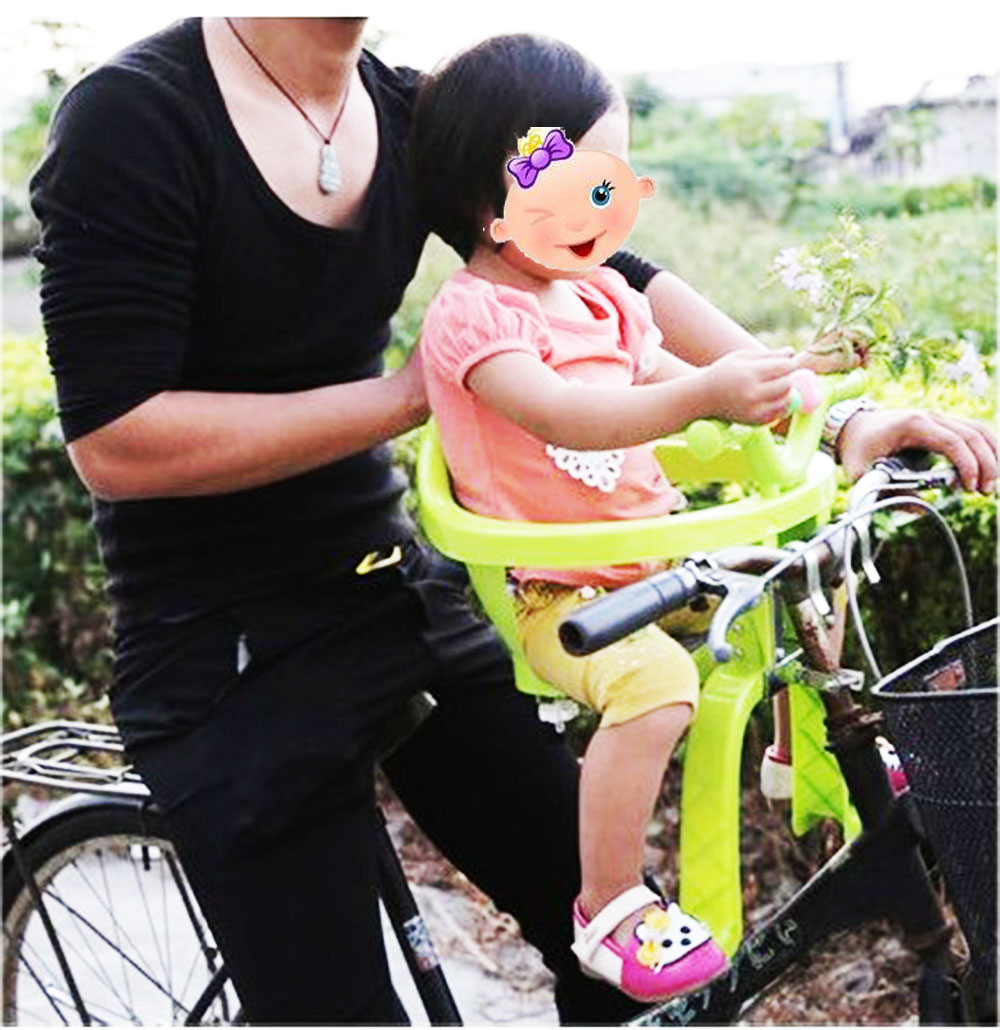 Popular Child Seat for Bicycle Baby Protection Chair on Bike Handle Thick PP Kid Security Seat Both Front and Back Install bicycle saddle bike child back seat pu leather cushion bike child seat with back rest bike accessories