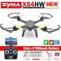 Nova Syma X54HW FPV Zangão RC com Câmera WI-FI 2.4G 6-Axis Dron Helicóptero RC Quadcopter Brinquedos VS Syma X5SW com 5 bateria