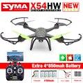 Nueva Syma X54HW FPV RC Drone con Cámara de WIFI 2.4G 6-Axis Dron RC Helicóptero Quadcopter Juguetes VS Syma X5SW con 5 batería