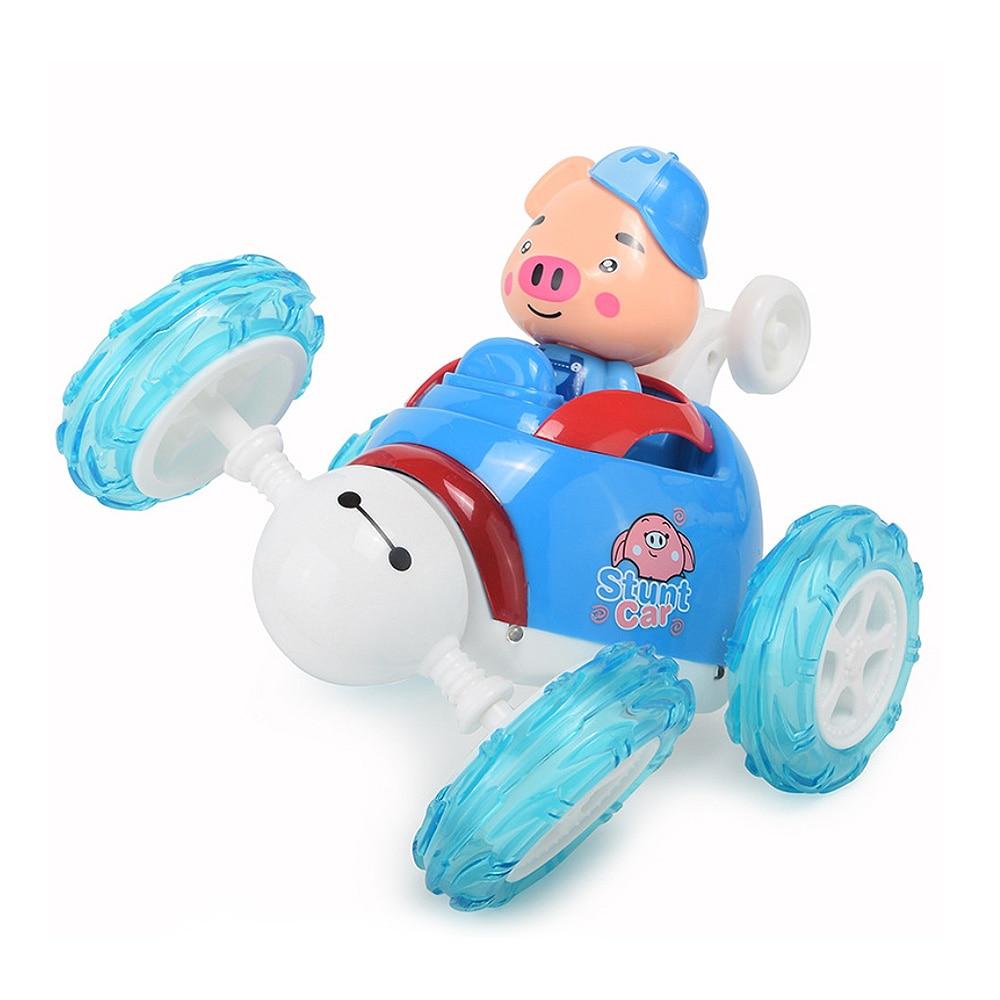 Newest Arrived  Remote Control Car Pig Model Overturn Ability Stunt Car  Model Overturn Ability Stunt Car Children