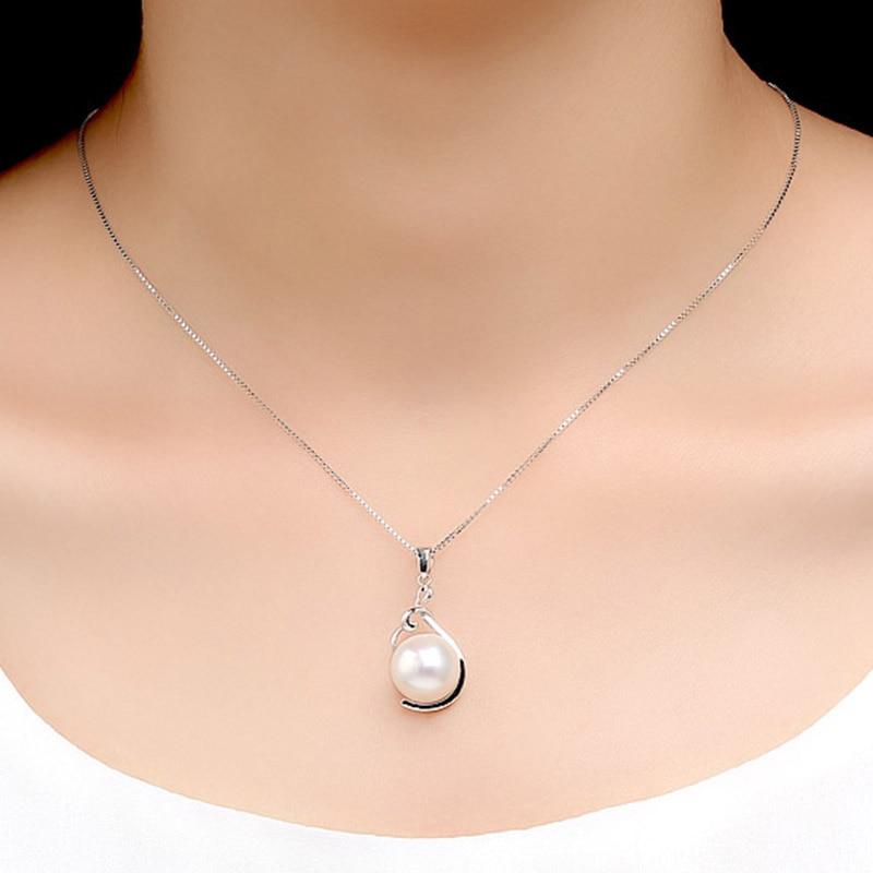 Sinya ægte perle vedhæng halskæde 925 sterling sølv charm til - Smykker - Foto 4