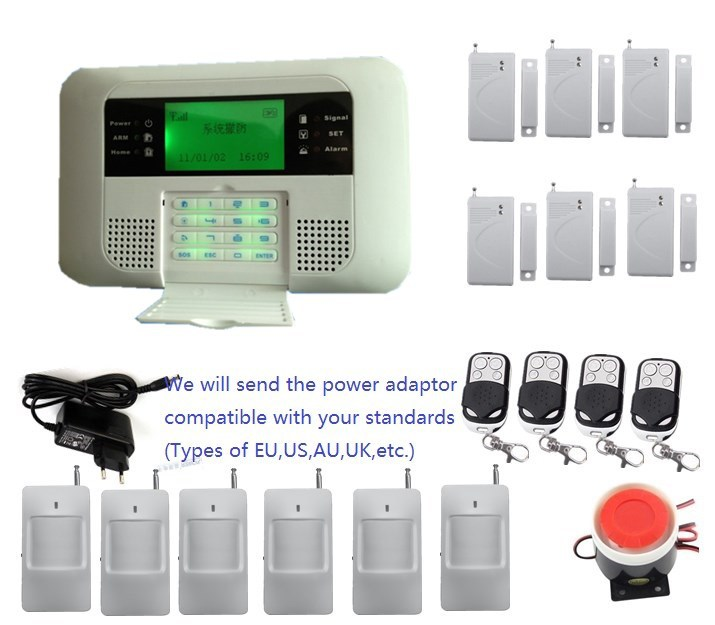 Stable classic type Voice prompt SMS controled auto dial Mobile Call GSM850/900/1800/1900MHz Home security GSM PSTN Alarm System