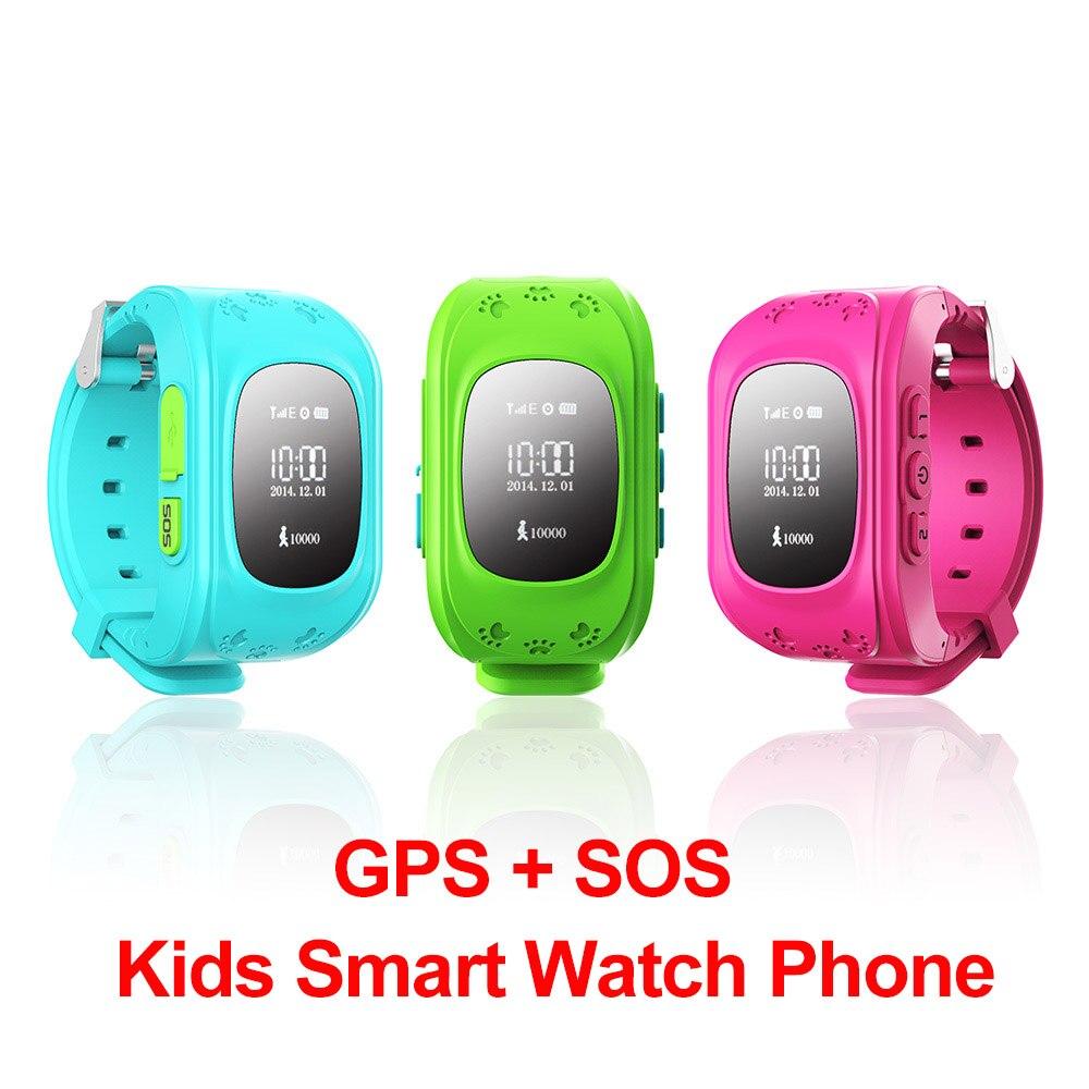 imágenes para Niños GPS reloj teléfono Inteligente Reloj de Pulsera G36 Q50 GSM GPRS GPS Localizador Rastreador Anti-perdida Smartwatch Niño Guardia para iOS Android