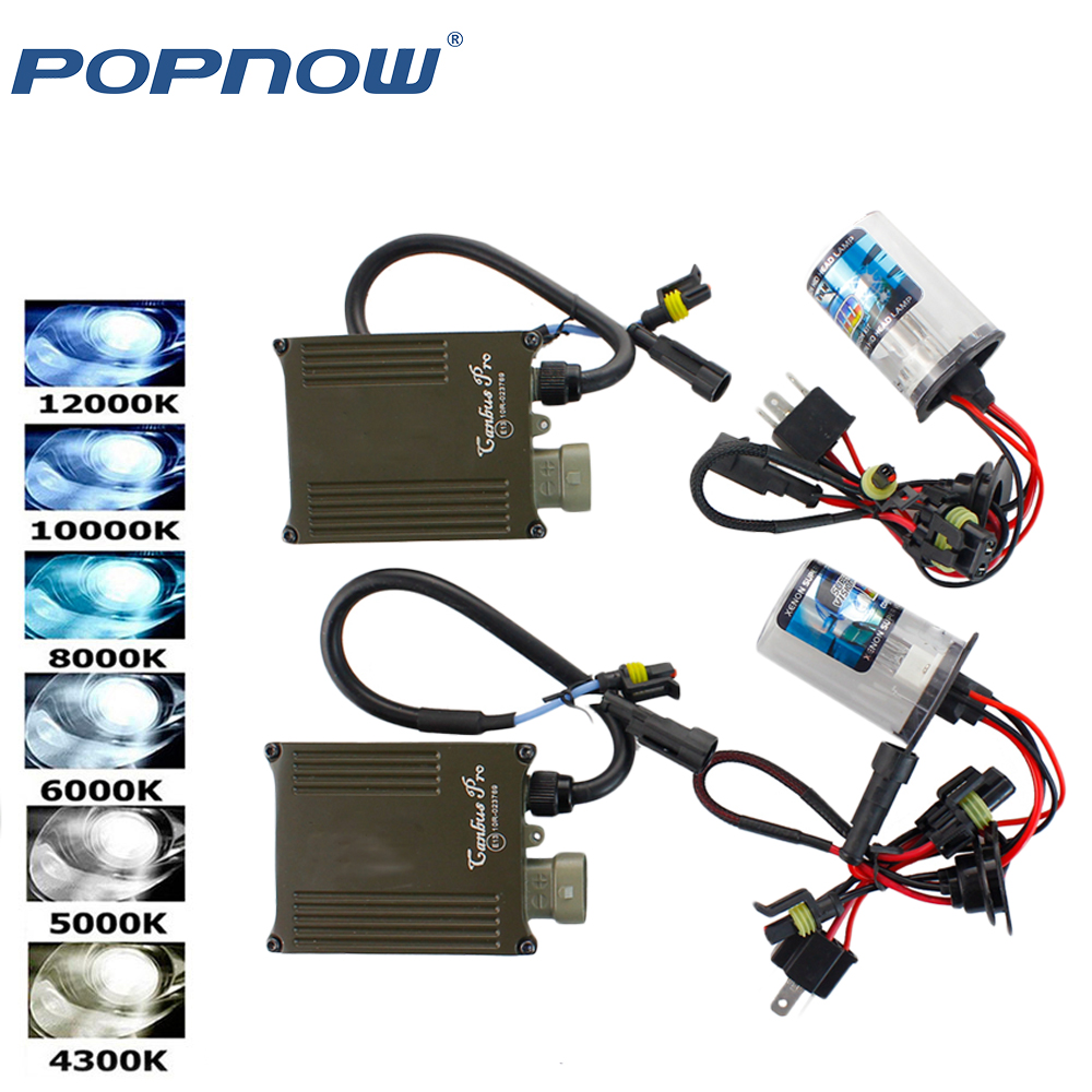AC 55W Kit Xenon bulb HID Canbus Error Canceller DOT H1 H4-3 H7 H11 9006 Car Headlight Fog Light with Digital Ballast Reactor цена