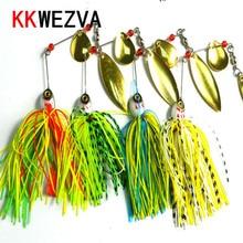KKWEZVA 1pc 20.5G metal lure hard fishing lures Spinner Lure Spinnerbait Pike swivel Fish tackle wobbler Submerged Fluff