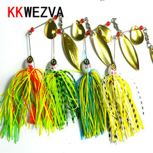 KKWEZVA 1pc 20.5G metal lure hard fishing lures Spinner Lure Spinnerbait Pike swivel Fish tackle wobbler Submerged Fluff