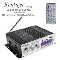 2018 New Bluetooth Audio Receiver home amplifier 12v HY V10 20W x 2 2CH HIFI Car Audio Power Amplifier FM Radio Player