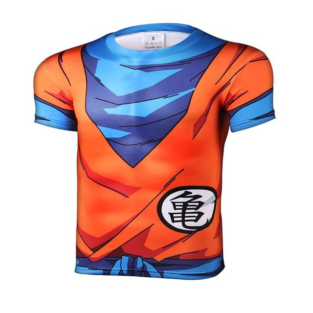 658b5fbe4d Remeras hombre verano 2016 Nuevo dragon ball Camiseta hombre armadura 3d  camiseta estampada compresión camiseta tops