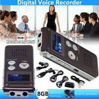 USB Aufladbare 8 GB Digital Audio/Sound/Voice Recorder Smart Diktiergerät Lautsprecher MP3 Player LCD Screen Mic Tragbare konferenz