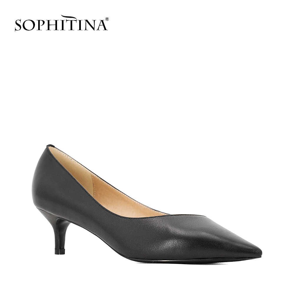 SOPHITINA セクシーなハイヒールパンプス高品質子供スエードポインテッドトゥ快適な靴結婚式のファッションホット販売の女性のパンプス w21