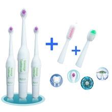 1 шт. Детская электрическая зубная щетка для детей, массажная Защитная зубная щетка с 3 сменными головками