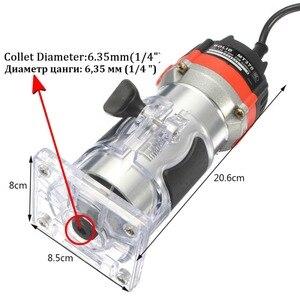 Image 5 - Qualidade 220v 35000rpm 530w 1/4 electric laelétrica mão trimmer laminador de madeira roteador conjunto de ferramentas