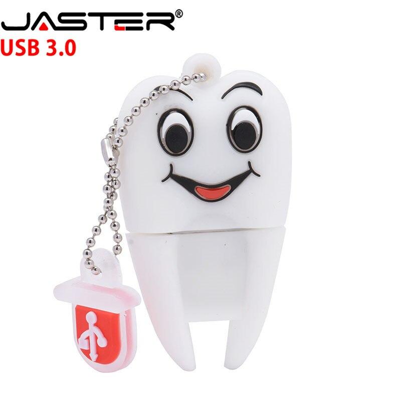 JASTER 3.0 Pen Drive Gift Teeth Cute Model 8GB/16GB/32GB/64GB Usb Flash Drive, Tooth Flash Memory Stick Pendrive Dentist U Disk