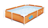 Summer 2.2*1.5*0.43m portable folding children's rectangular bracket pool tube rack pool swimming pool