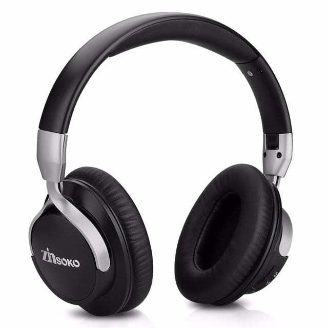 434b89337b6 Zinsoko Bluetooth Headphone Noise Cancelling Stereo Bass Sound Over Ear  Headset Wireless Earphone With Microphone 300Hrs Standby