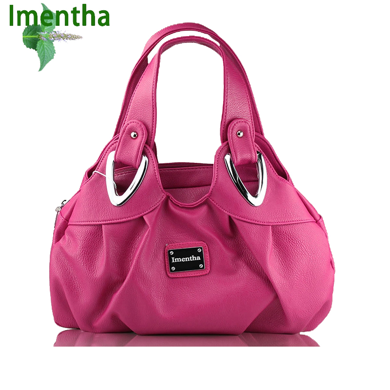 2017 Candy color ladies hand bag women Top-Handle Bags female tote bags for women purses and handbags women leather handbags