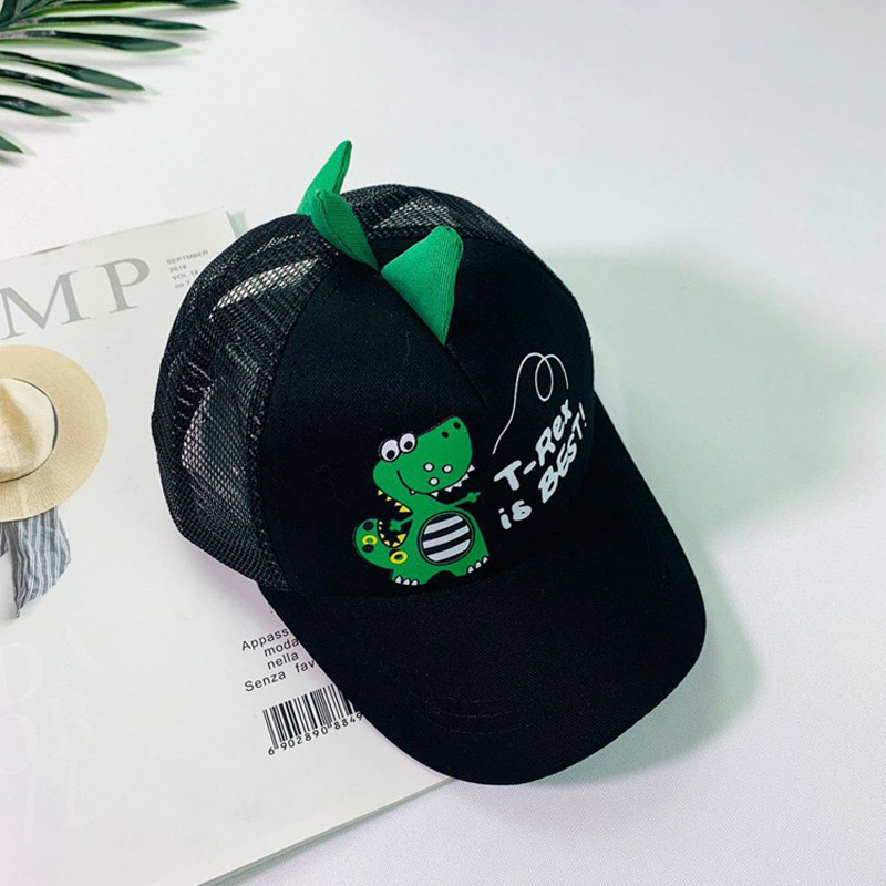 HTB1rS0VLNTpK1RjSZFMq6zG VXaG - Doitbest 2-8 Years old Summer Children Baseball Cap Boys Girls Cartoon Dinosaur Snapback mesh Kids HipHop Hat Sun cap