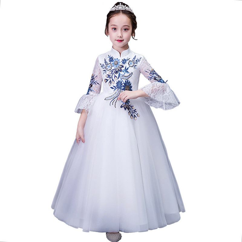 2019 New Fashion Teenage Girl Embroidery Tutu Princess Dress Kids Dresses For Girls Wedding Party Baby Girl Clothes Vestidos F222019 New Fashion Teenage Girl Embroidery Tutu Princess Dress Kids Dresses For Girls Wedding Party Baby Girl Clothes Vestidos F22
