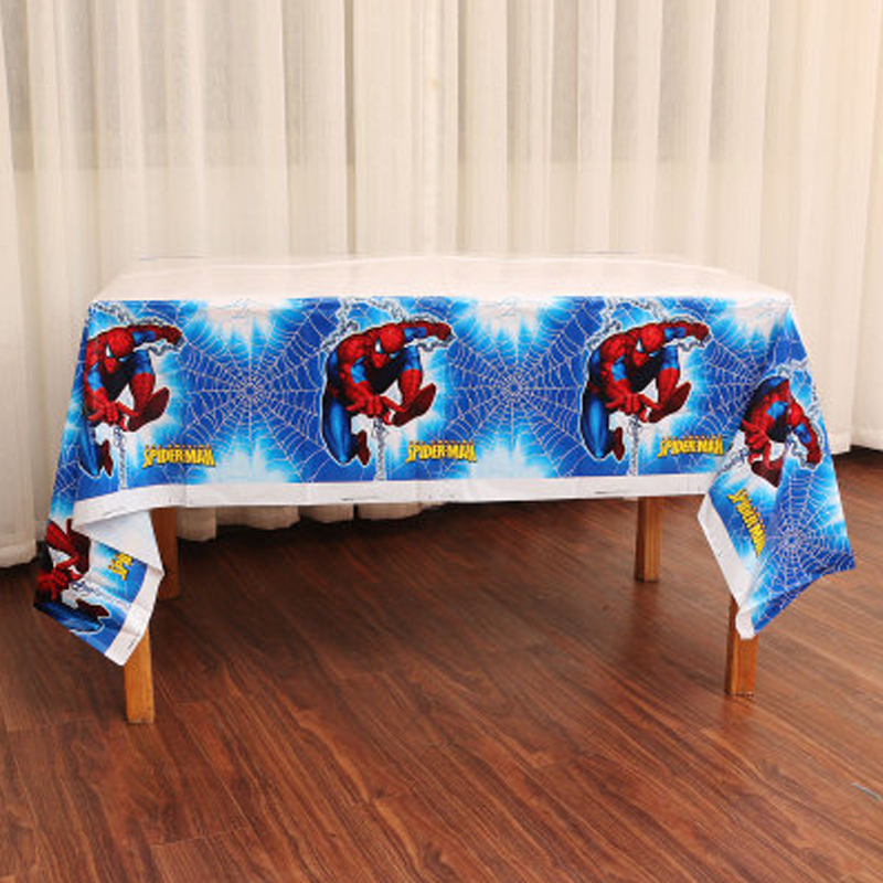 1pcs/lot Spiderman Theme Happy Baby Shower Decorate Plastic Tablecover Kids Boys Favors Maps Birthday Events Party Tablecloth