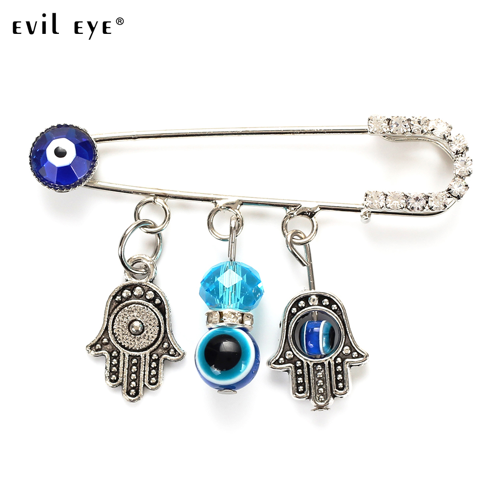 Evil Eye Turkey Blue Eye Animal Pendant Brooch Ethnic Style With Owl/hamsa/hand/tree Charm Brooch Buckle Clips For Woman Ey5066 Warm And Windproof Jewelry Sets & More