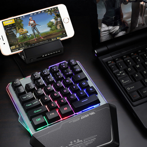 Image 2 - Gaming Keyboard One Handed Keyboard For PUBG LOL Mobile Game Left Hand Small Keyboard Dropship LED Backlight keyboard
