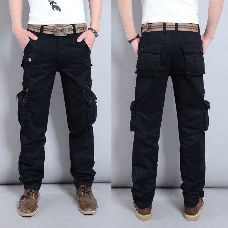 Trousers Overalls Cargo-Pants Military-Uniform Multi-Pocket Sports Straight Men's Summer