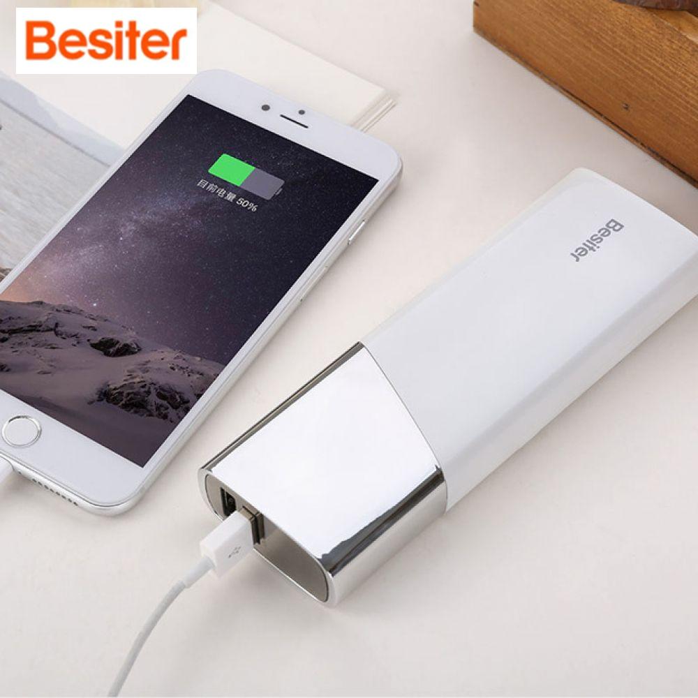 Besiter 10000 mAh grande capacité Powerbank mi ni batterie externe Portable mignon chargeur LED batterie externe pour iPhone Xiao mi X mi
