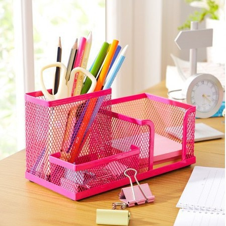 Cute Metal Multifunctional Pen Holder For Desk Desktop
