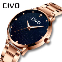 CIVO Rose Gold Watch Women Watches Ladies Creative Clock Stainless Steel Women's Bracelet Watches Relogio Feminino Montre Femme