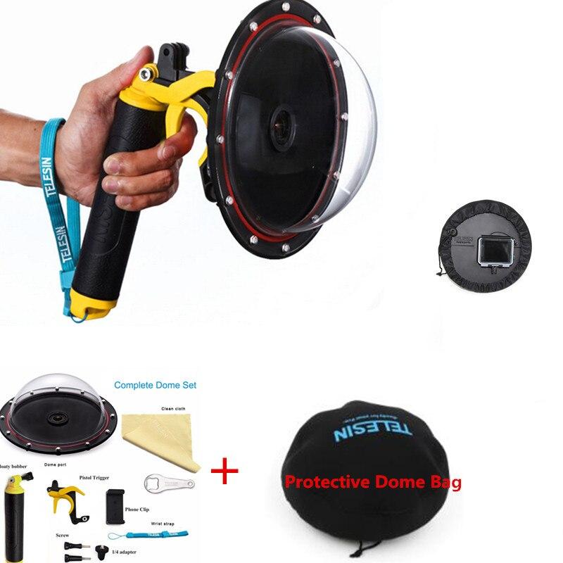 6 ''nouveaux accessoires pour Go pro Mount étanche dôme Port pour Gopro Hero 4 3 + 3 caméra de montage