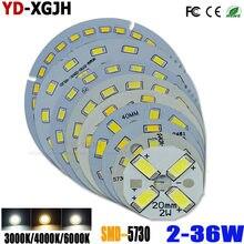 Smd5730 lâmpada led com placa de luz, de alumínio, 2 3 5 7 9 12 15 18 21 24 30 lâmpadas retrofit de 36w diy, acessórios de placa de lâmpada