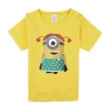 Boys Girls Short Sleeve T shirts For Children Fashion minions Tops 95%cotton 10 Colors Kids Clothing Baby Boys Girls T Shirt