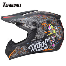 купить Mountain bike Full Face Motorcycle Helmet Racing Helmet Motocross Off Road Kask Casco De Moto Motociclista DOT Approved дешево