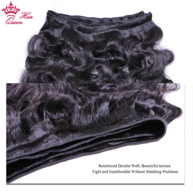Pelo virginal brasileño de la onda del cuerpo 100% pelo humano sin procesar 4 unids/lote paquete Color Natural envío gratis productos para el cabello de la Reina