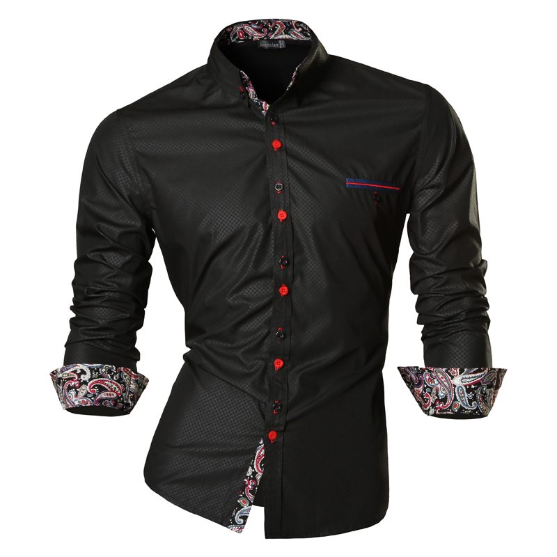 Jeansian Spring Autumn Features Shirts Men Casual Jeans Shirt New Arrival Long Sleeve Casual Slim Fit Male Shirts Z027