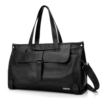 Soft Genuine Leather Men\'s Luggage Bags Casual Travel Duffel Bags Cow Leather Large Capacity Document Handbags for Sthdent lfb08