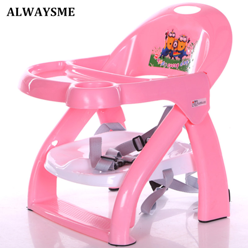 Alwaysme  Foldable Portable Alwaysme  Portable Baby Kids Booster Seats Baby Highchairs Baby Chairs Dinner Plate Feeding Chair