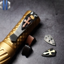 EDC Cross With Screw Shield Titanium Alloy Copper Copper Brass Flashlight Clip Folding Knife Pendant Accessories Knife Beads цены