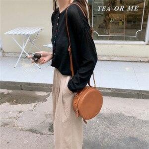 Image 3 - Новые круглые сумки через плечо для женщин, новинка 2019, сумка мессенджер через плечо из искусственной кожи, женские сумки на цепочке, женская сумка