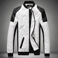 Mens leather jacket pilot chaqueta de cuero biker Jackets big size coat black white 5XL 6XL deri ceket faux leather male outwear