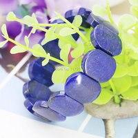 15X20 Hot Accessories Lapis Lazuli Ellipse Hand Chain Bracelet Crafts Beads Jasper Jade Stone Jewelry Making